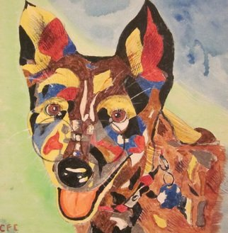 Chris Cooper Artwork  Acid Dog, 2014 Acrylic Painting, Animals