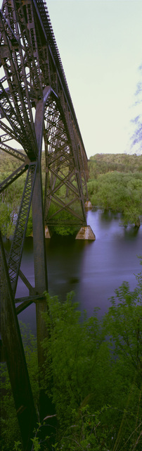 Chris Faust  'Arcola Bridge', created in 1993, Original Photography Color.