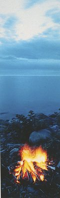 Chris Faust: 'Campfire Hovland MN', 1996 Color Photograph, Landscape. Artist Description:                B& W Midwest landscape               ...