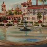 Flagler College I hand touched giclee By Christine Cousart
