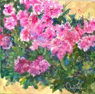 Chris Jehn: 'Pink Azalea', 2015 Acrylic Painting, Abstract Landscape.  Pink Azalea on wrapped canvas. Very Happy.     ...