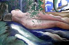 - artwork Sleeping-1137979803.jpg - 2001, Painting Acrylic, Figurative