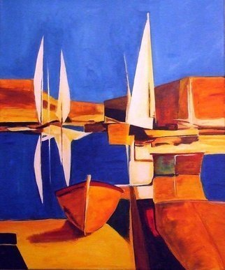 Christian Mihailescu: 'Marina 04', 2011 Acrylic Painting, Sailing.   Title: MARINA 04- ORIGINAL ACRYLIC PAINTING on CANVAS Size: 20