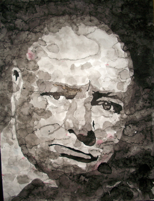 Artist Christian Draeger. 'Winston Churchill' Artwork Image, Created in 2010, Original Watercolor. #art #artist