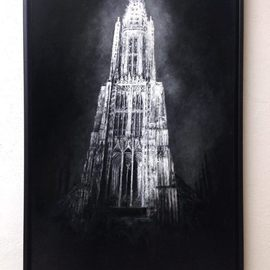 Christian Klute Artwork Cathedral of Ulm, 2016 Oil Painting, Urban