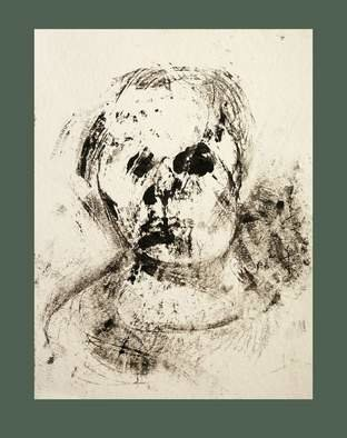 Christian Prodanow Artwork Self Portrait, 2010 Monoprint, Portrait