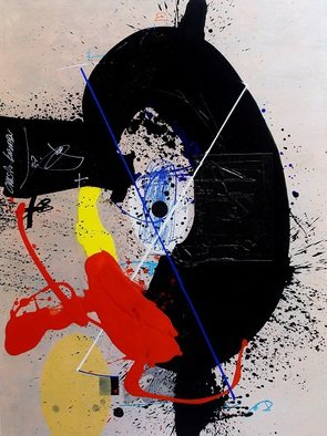 Christo Kasabov: 'EXCITEMENT', 2015 Mixed Media, Abstract Figurative.           acrylic, and oil stick on canvas               ...