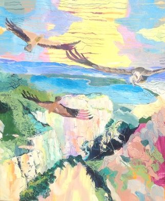 Chris Walker Artwork Vultures over the Gorge, 2014 Oil Painting, Body