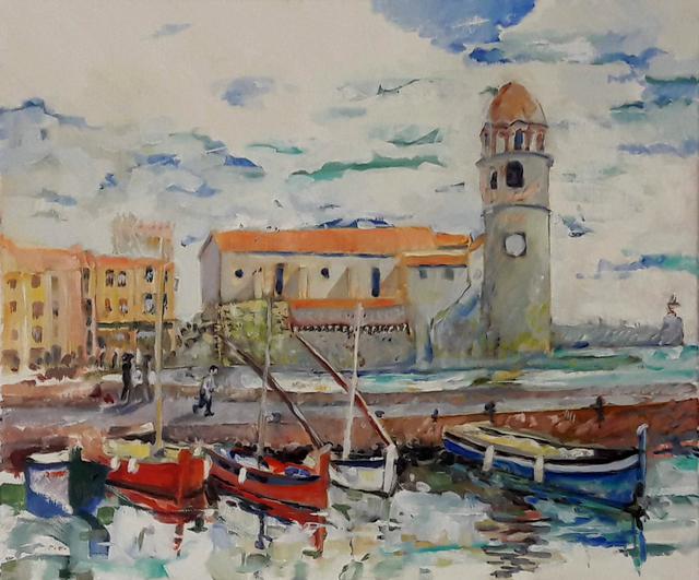 Chris Walker  'Collioure', created in 2020, Original Painting Oil.