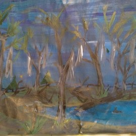 Charles Conner: 'surrounding', 2020 Acrylic Painting, Trees. Artist Description: Not framed...