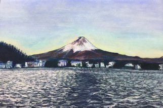Benny Chung: '0600fuji', 2018 Oil Painting, . Artist Description: Fuji mountain in front of the lake...