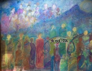 Cindy Kornet: 'forever', 2017 Acrylic Painting, Spiritual. Artist Description: Mt Sinai spirit soul connection foreverspiritual beings...