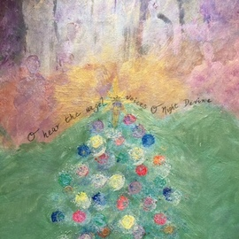 Cindy Kornet: 'o night devine', 2017 Acrylic Painting, Christian. Artist Description: Christmas O Night Divine Soul Religious Holiday...