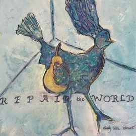 Cindy Kornet: 'repair the world', 2020 Acrylic Painting, Healing. Artist Description: Repair the world Pear and chicken ...