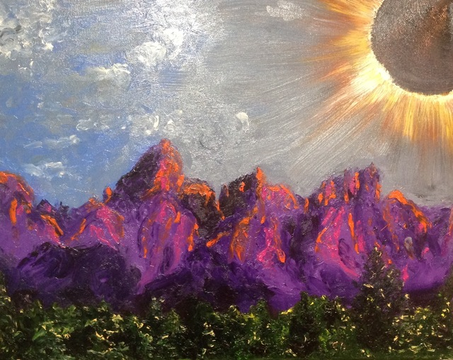 Cindy Pinnock  'Grand Teton Landscape', created in 2017, Original Painting Oil.