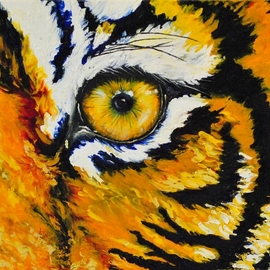 Cindy Pinnock: 'tiger', 2017 Oil Painting, Wildlife. Artist Description: Tiger, Bengal tiger, wildlife art, safari painting, animal, safari, big cat, jungle cat, zoo ...