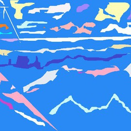 Beach and Mountain 1