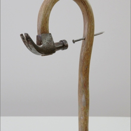 Seyo Cizmic: 'Harakiri ', 2012 Mixed Media Sculpture, Surrealism. Artist Description:  Seyo Cizmic - Harakiri ( Seppuku) - Redesigned hammer and nail    ...