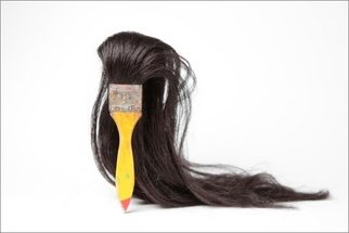 Seyo Cizmic: 'Misfit', 2000 Mixed Media Sculpture, Outsider. Artist Description:   Modified paintbrush with human hair  ...