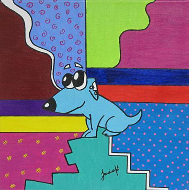 Caroline Jarvinski  'Louie', created in 2012, Original Giclee Reproduction.