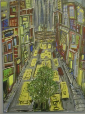 Christopher Hrynyk: 'follow that cab', 2010 Acrylic Painting, Representational.