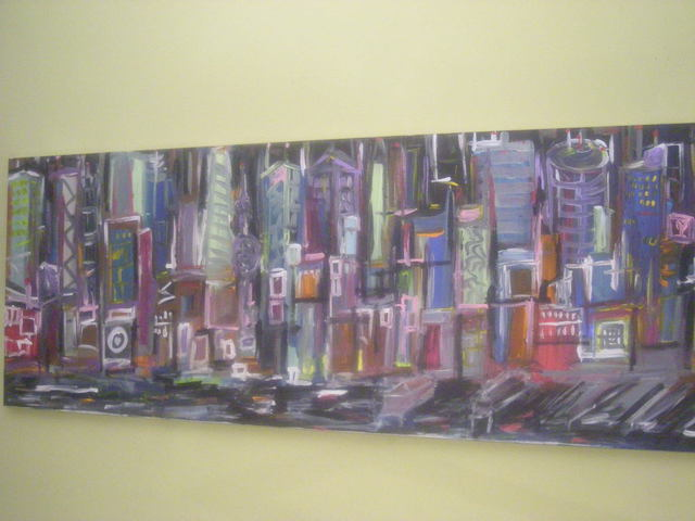 Christopher Hrynyk  'Untitled Cityscape 2008', created in 2008, Original Painting Acrylic.