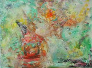 Caren Keyser Artwork Flowers in Her Hat, 2015 Flowers in Her Hat, Abstract Figurative