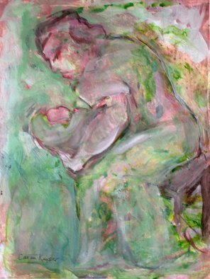 Caren Keyser Artwork Not all Mothers are Beautiful, 2015 Acrylic Painting, Abstract Figurative
