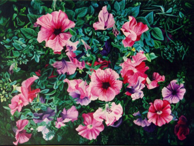 Caren Keyser  'Petunia Sweet Petunia', created in 1980, Original Mixed Media.