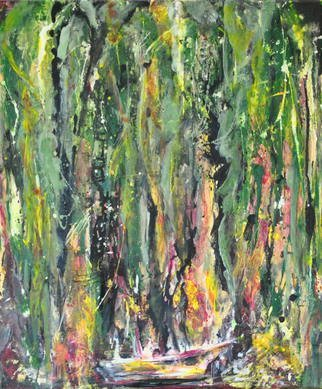 Artist: Caren Keyser - Title: Swamp on Fire - Medium: Acrylic Painting - Year: 2014