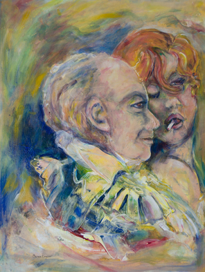 Artist: Caren Keyser - Title: The Vamp and the Gentleman - Medium: Acrylic Painting - Year: 2016