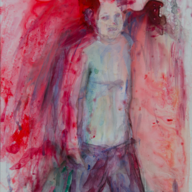 Caren Keyser Artwork the boy, 2017 Acrylic Painting, Abstract Figurative