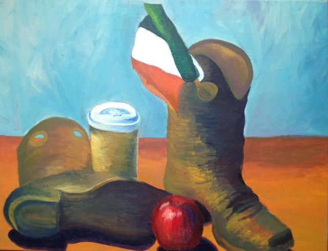 Claire Slattery  'Still Life', created in 2011, Original Painting Oil.