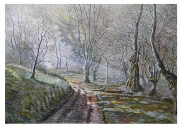Chris Clarke  'Selworthy Woods', created in 2011, Original Painting Other.