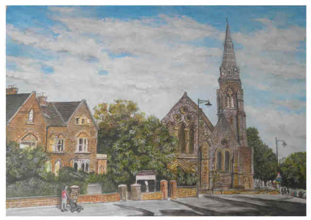Chris Clarke  'St Johns Church, Taunton', created in 2011, Original Painting Other.