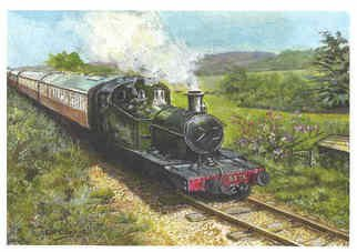 Chris Clarke Artwork West somerset railway, 2011 Acrylic Painting, Trains