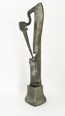 Claudio Bottero: 'Cova sculpture', 2010 Steel Sculpture, Abstract Figurative. Abstract piece that represents a Heron with her nest. ...