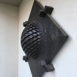 Claudio Bottero: 'nucleo di magma', 2013 Steel Sculpture, Abstract. Artist Description: Inspired by a volcanic eruption...