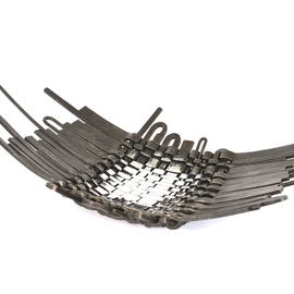 Claudio Bottero: 'tessuto nel tempo', 2010 Steel Sculpture, Abstract. Artist Description: I wanted for many years to create a bowl that could fill a large room, but one that gave a special presence. It s a great piece, it has lots of character and provokes attention....