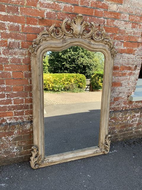 Cleall Antiques  'Antique French Mirror', created in 2020, Original Glass Blown.