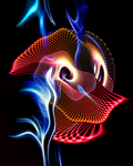Artist: Cheryl Hrudka, '5877  Fire Dance   Print on Metal'