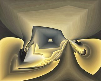 Cheryl Hrudka: '7695 exploding outof the box', 2018 Digital Other, Abstract. Artist Description: Box, digital, digital print, abstract, abstraction, contemporary, original, limited edition, yellow, brown, ...
