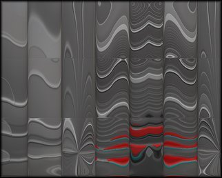 Cheryl Hrudka: '7725 colors amongst the grays', 2018 Digital Drawing, Abstract. Artist Description: Abstract, abstraction, contemporary, limited edition, gray, red, blue, digital, digital drawing, digital print, print on aluminum...