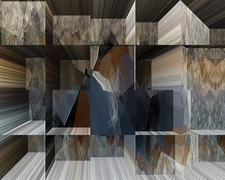 Cheryl Hrudka: 'art in the stone closet', 2020 Digital Art, Abstract. A combination of architecture, texture and depth. Limited edition of 5...