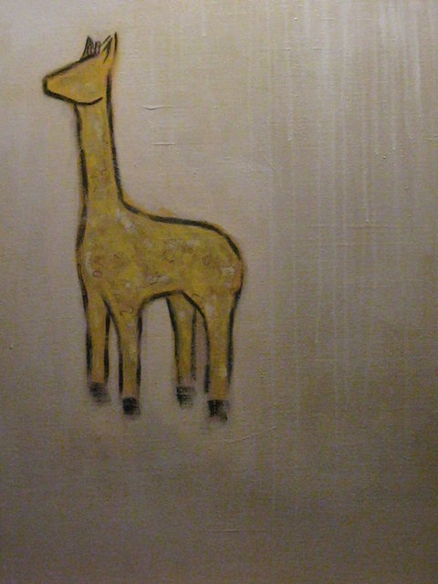 Artist Jon Klassen. 'Portugals Giraffe' Artwork Image, Created in 2008, Original Painting Oil. #art #artist