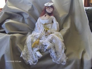 Deborah Robinson: 'Goddess Brighid', 2007 Other Sculpture, Inspirational. Artist Description:  totally handcrafted. . her garment is made from a vintage bridal gown. . she wears a genuine stone around her neck and celtic bands on her arms ...