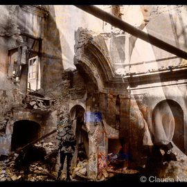 Claudia Nierman: 'Collapse', 2015 Digital Photograph, Fantasy. Artist Description:  Printed on cotton archival photography paper or metallic photographic paper.mages can be framed or mounted on sintra with or with out acrylic. I am happy to custom made for each person's need.  ...