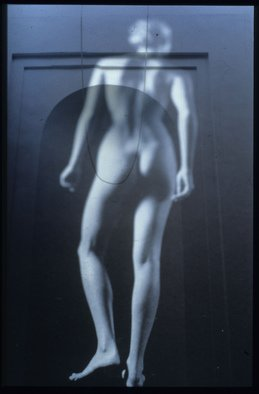 Claudia Nierman: 'El Umbral Azul', 1999 Cibachrome Photograph, Nudes. Artist Description:   This image is also available printed on canvas 57 x 80; and in cibachrom 32x 45.  ...