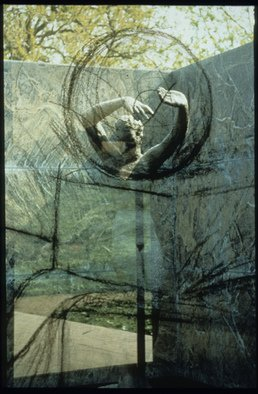 Claudia Nierman: 'Meditation', 1997 Cibachrome Photograph, Nudes. Artist Description:  Part of a Series on Architecture.This image is also available printed on canvas 57 x 80; and in cibachrom 32x 45. ...