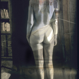 Claudia Nierman: 'The Librarian', 2002 Other Photography, nudes. Artist Description:  his image can be printed in several formats including 57